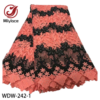 African Lace Fabrics 2020 High Quality Nigerian Guipure Lace Fabric Bride French Net Tulle Lace Fabric WDW-242