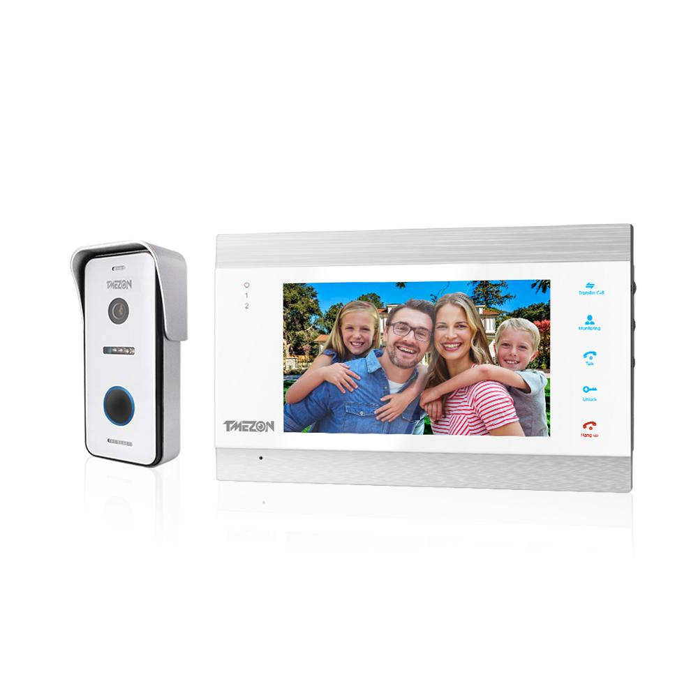 TMEZON 7 Inch HD1080P  Smart Video Door Phone Intercom System With High Definition Wired Doorbell Camera,Support Remote Unlock