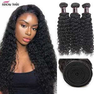 Ishow Malaysian Kinky Curly Hair Bundles Remy Human Hair Extensions Nature Color Buy 1/3/4 Bundles Thick Kinky Curly Bundles