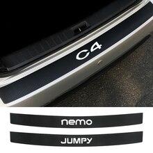 Car Bumper Sticker For Citroen Berlingo C1 C2 C3 C4 C4L C5 C6 C8 C-Crosser C-ELYSEE Jumpy Nemo PICASSO Xsara VTS Accessories