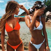 Sexy Solido Insieme Del Bikini Delle Donne Brasiliano Costumi Da Bagno A Vita Bassa Costume Da Bagno Estate Costume Da Bagno Femminile Backless Beachwear Biquini Mujer