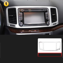 Lsrtw2017  Car Dashboard Navigation Frame Trims for Volkswagen Vw Sharan 2011 2012 2013 2014 2015 2016 2017 2018 Seat Alhambra