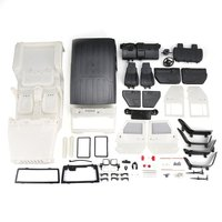 Unassembled Hard Plastic Car Shell Body DIY Kit for 313mm Wheelbase 1/10 Wrangler for Jeep Axial SCX10 RC Car Crawler Vehicle