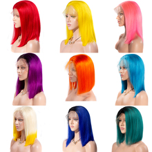 613 Blonde Bob Lace Front Wig 13×6 Short Lace Front Human Hair Wigs Pink Blue Red Green Transparent Ombre Human Hair Wig