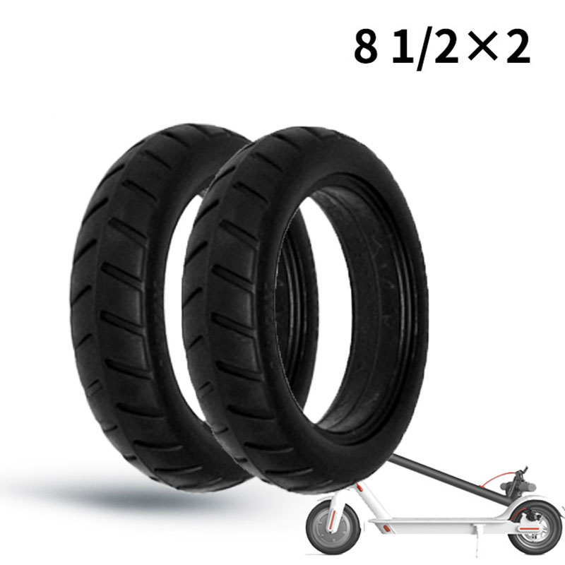 Wheel Tire Wear Resistance Accessories For Xiaomi M365 Electric Scooter 8 1/2x2 Solid Full Core Tyre