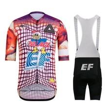 Raphaful EF pro team Italia-maillot de manga corta para ciclismo, kit de Culote para hombre