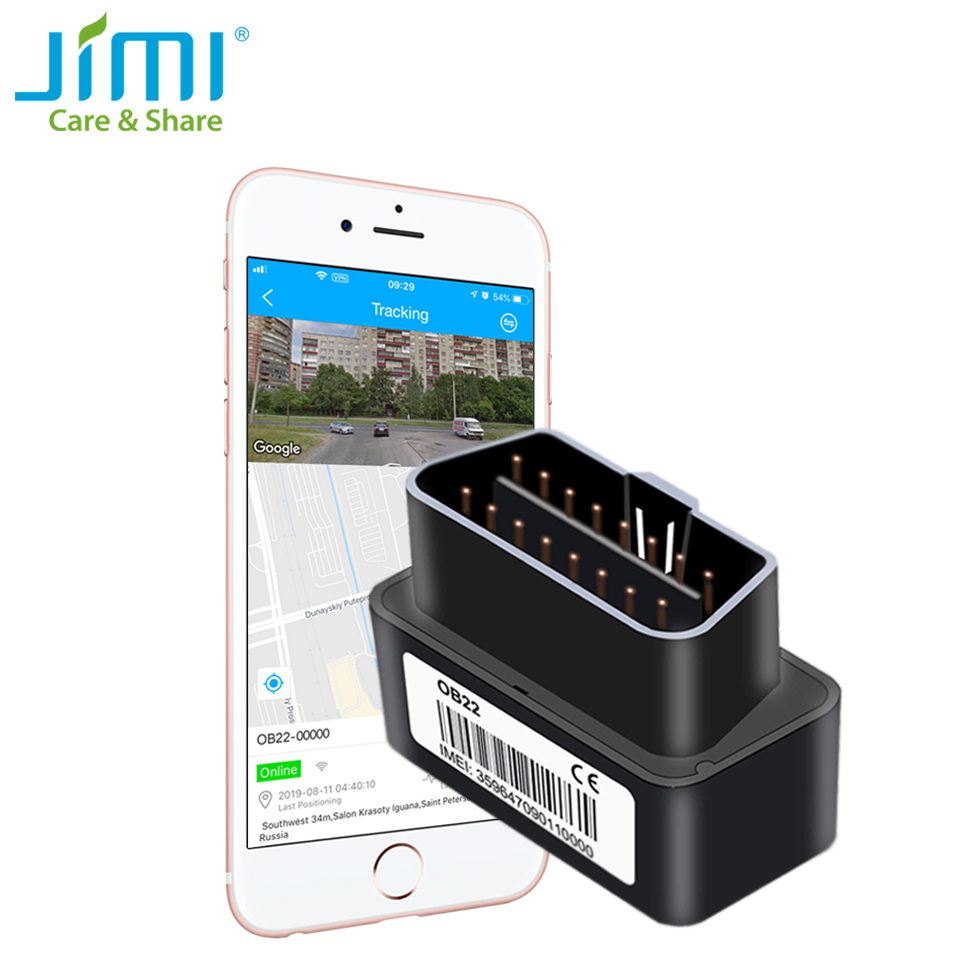 Jimi Mini OB22 Car GPS Tracker Plug & Play With Real-time Tracking Free Charging Voice Monitoring Multiple Alarms For Vehicles title=