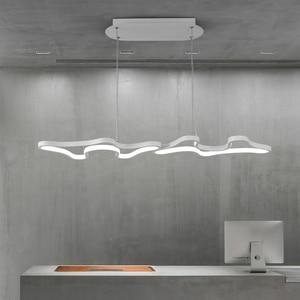 Image 1 - Creative Modern Led Hanging Pendant Lights For Shop Bar Dining Kitchen Room AC85 265V Acrylic Led Pendant Lamp Free Shipping
