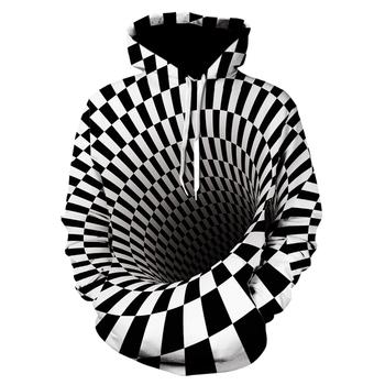 strong Import List strong Zima 2020 nowa magiczna bluza drukowanie 3D bluza z kapturem Casual męska #8222 i kobiety bluzy czarno-biała przestrzeń sportowa Streetwear tanie i dobre opinie CN (pochodzenie) Pełne SPORTS REGULAR Bluzy z kapturem Brak Grube POLIESTER NONE