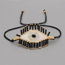 Go2boho Turco Pulseras de Ojo maligno griego Ojo pulsera para las mujeres Miyuki cuentas Pulseras Ojo Turco joyería hecha a mano de joyería