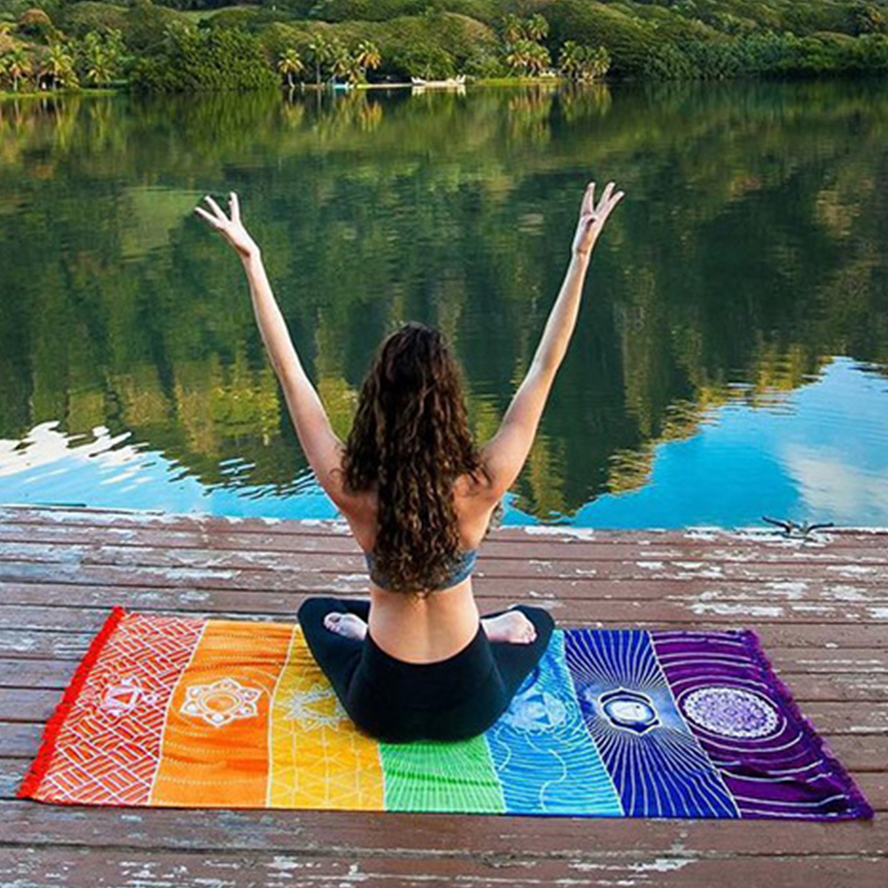 75*150CM Fiber Active Printing DIY Cloth Beach Towel Carpet Yoga Mat Quick-drying Towel Bath Towel Multi-purpose Tablecloth