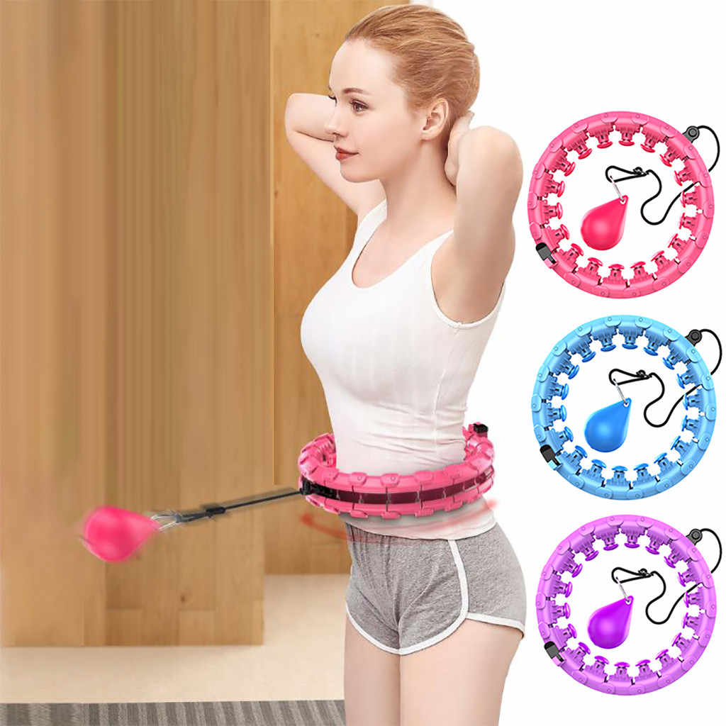 YNLRY Smart Hula Hoop Auto-Spinning for Adults Abdomen Waist Exercise Workout Weight Loss Circle Sports Supply Detachable