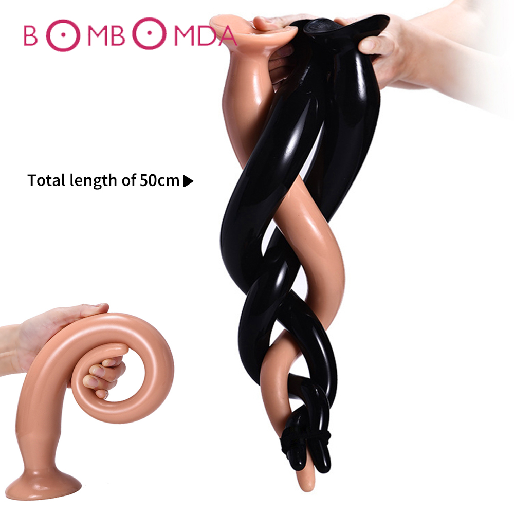 Super Long Dick Butt Plug Anal Dildo Anus Masturbator Dilator Prostate Massage 50cm Anal Plug Adult Sex Toys For Men Woman Gay
