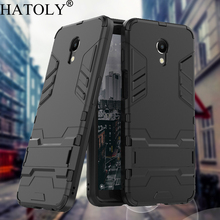 цена на HATOLY For Armor Case Meizu M6S Case Meizu M6S Shockproof Robot Silicone Rubber Hard Back Phone Cover For Meizu M6S mblu s6 5.7