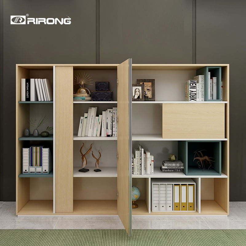 Home Office Study Room Multi-purpose Wood Files Wardrobe Storage Bookcase BookShelf  Standing Wood Cabinet Furniture