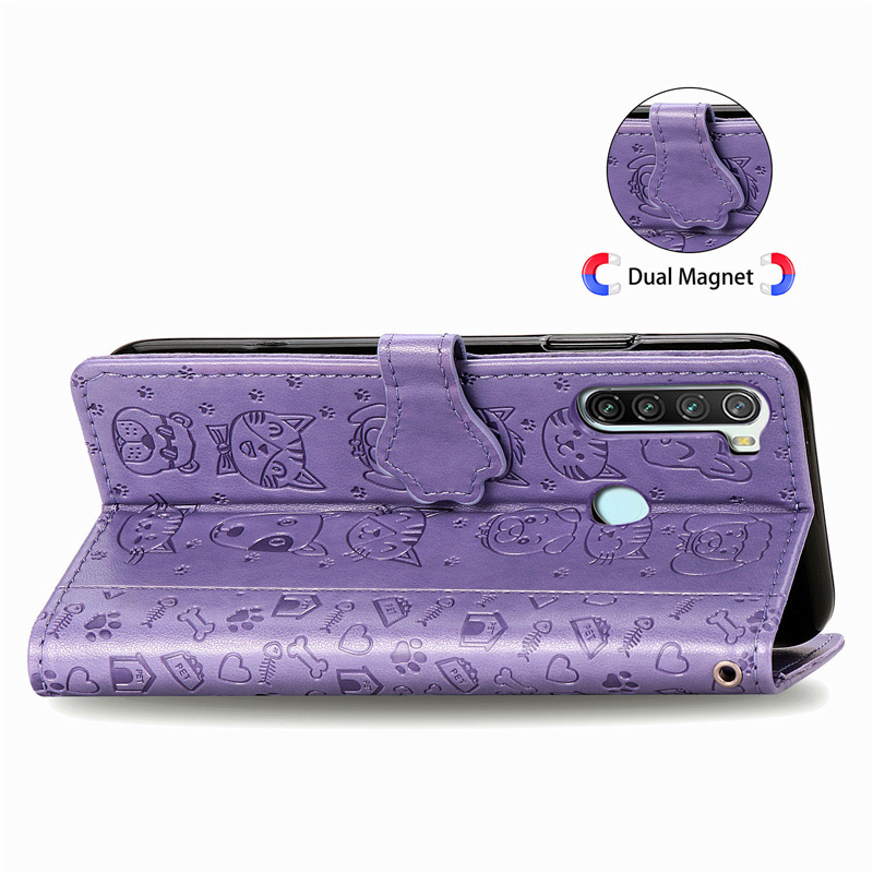 Cats And Dogs Leather Case For Xiaomi MI 10 CC9 CC9e 9se 9 Wallet Case For Redmi Note 9 8T 8 7 K30 Pro Zoom 8A 7A Flip Cover