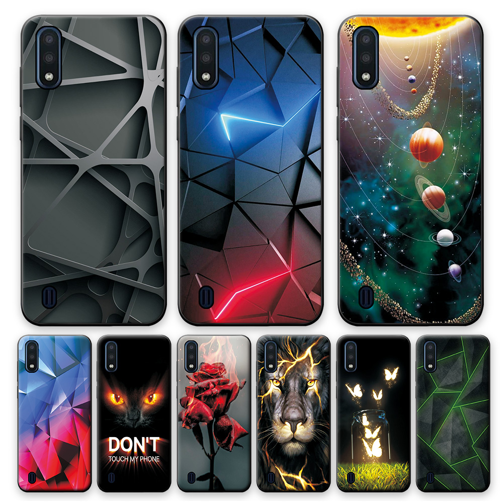 M01 For Samsung Galaxy M01 Case Bag Case For Samsung  M01 Cute Cover Bumper on M01 M 01 Shockproof Silicone Phone Case Dog 5.7
