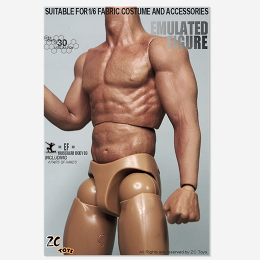 ZC Toys 3.0 Muscular male Figure Body 1//6 Scale With Seamless Arms model toy