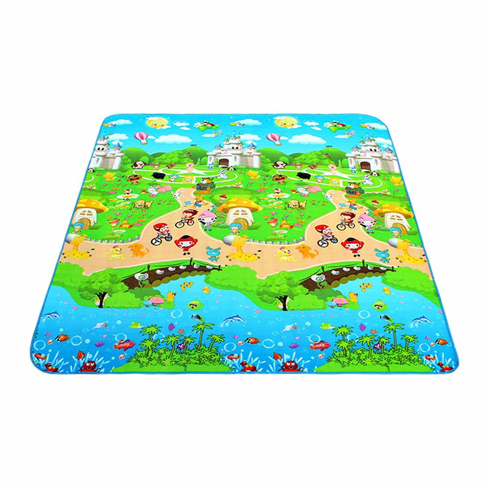 Outdoor Picnic Mat Baby Crawling Play Puzzle Mat Children Carpet Toy Kid Game Activity Gym Moisture Proof Soft Floor