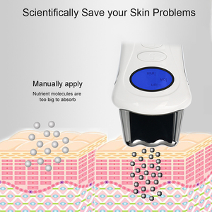 Image 5 - Mini Micro current Ion Beauty Stimulator Galvanic Handheld Spa Device with 3 Massage Heads LCD Face Lift Machine Skin Care