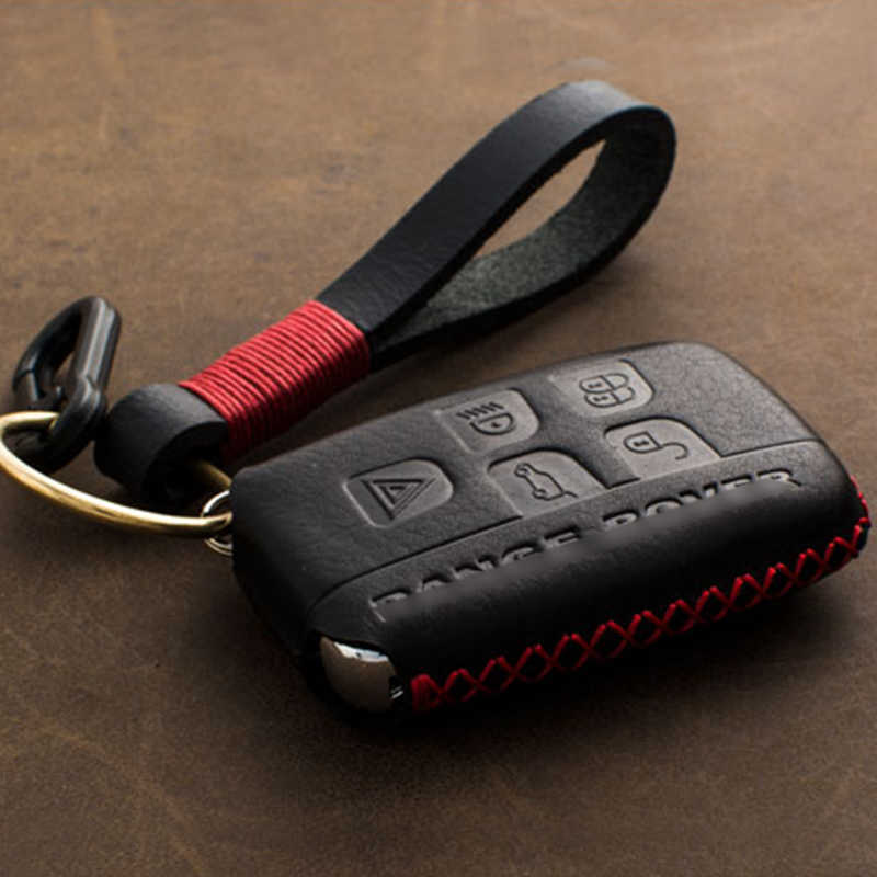 1Pcs Echtes Leder Car Remote Key Fob Shell Abdeckung Fall für Land Rover RANGE ROVER SPORT Evoque Freelander 1 2 gefunden 2 3 4 A8