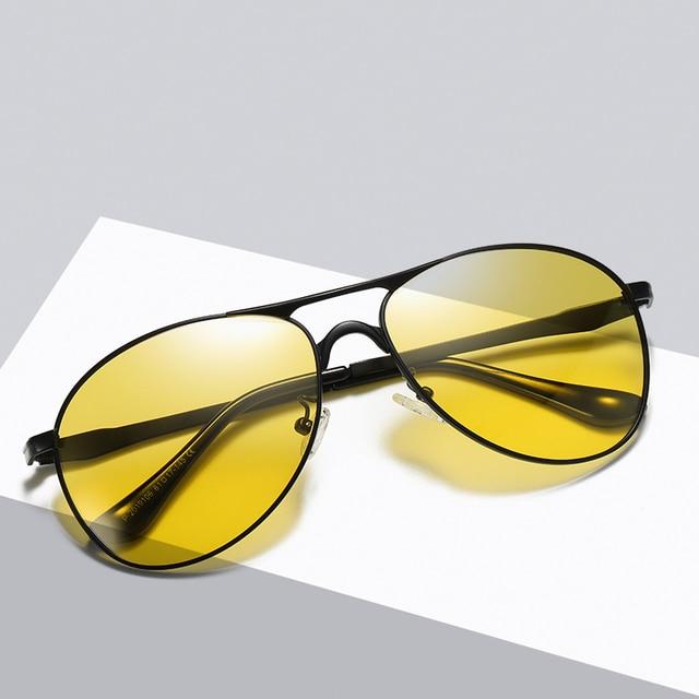 Classic Retro Designer Nighttime Driving Glasses for Women Men Aviation Polarized Night Driving Sunglasses Goggles UV400 3