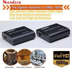 1080P 60Hz HDMI Extender Sender Transmitter Receiver Over Cat5e/Cat6 RJ45 HDMI Extender 60m HDMI Extender Switch For PC DVD PS4