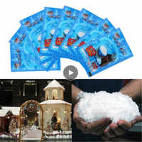 Snow Powder Magic Prop Christmas Party Decor Frozen Party Artificial Fake Snow TSLM2 Instant Decorations Festival Snowflakes New
