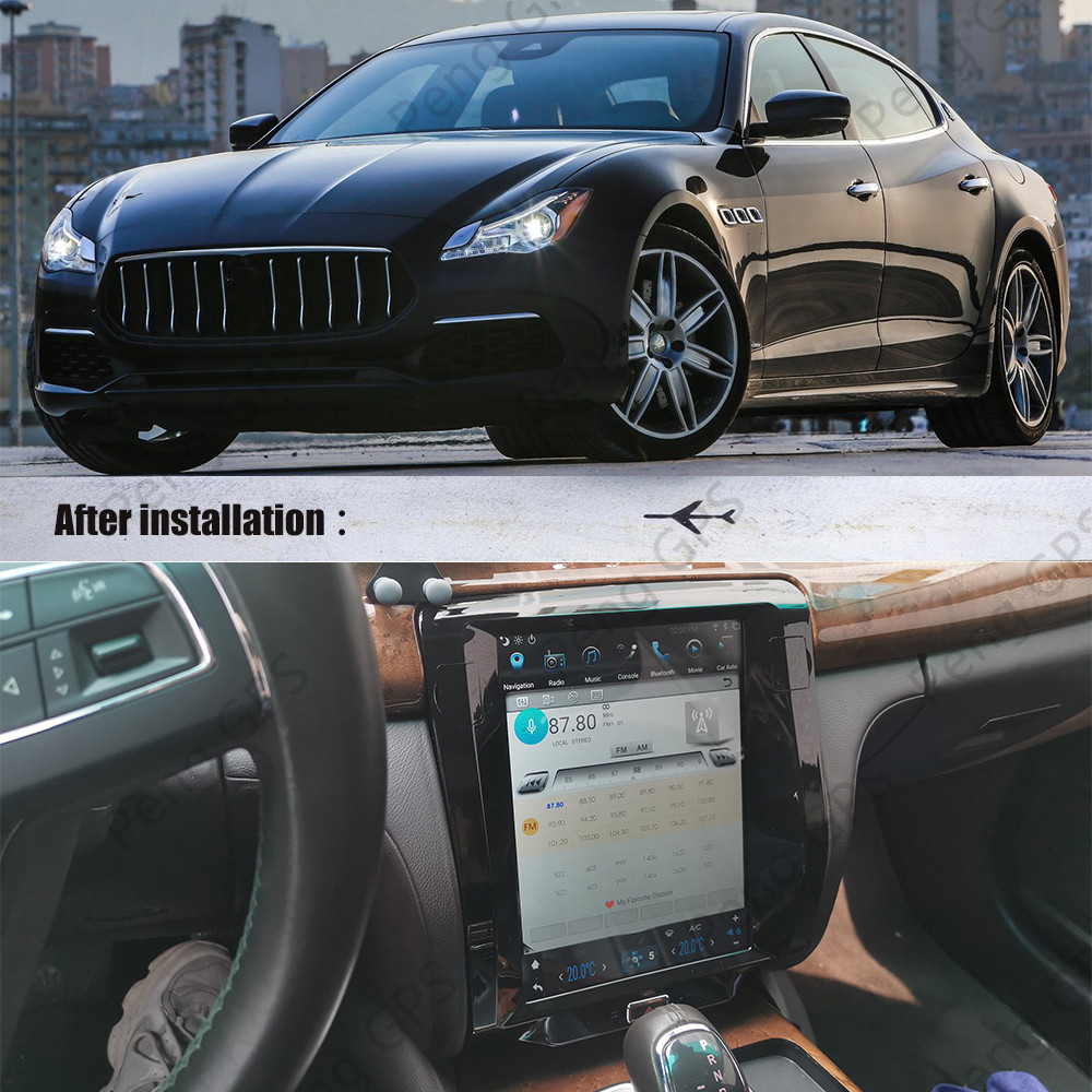 Tesla Screen Android PX6 For Maserati Quattroporte 2012-2016 CARPLAY Car Multimedia Stereo Radio No DVD Player GPS Navigation