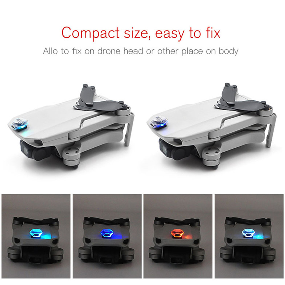 Rechargeable Colorful Flash LED Kit For DJI Mavic Mini Drone FPV Racing Drone/ RC Car Accessories Night Flight Signal Light