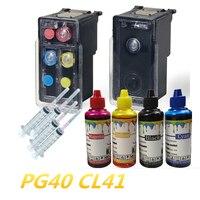 PG-40 CL-41 Recarregáveis Cartucho de Tinta compatível Para Canon Pixma MP140 MP150 MP160 MP180 MP190 MP210 MP220 MP450 MP470