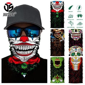 3D Seamless Magic Bandana Joker Clown Ghost Skull Tube Neck Warmer Face Cover Head Scarf Headband Headwear Snowboard Halloween 3d seamless neck buff bandana face mask camouflage motorcycle ghost skull face halloween bandana scarves