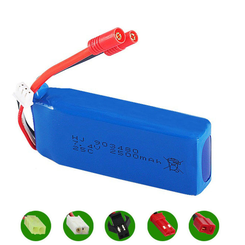 Lipo Battery For Syma X8C X8W X8G RC Cars 12428 12423 Toys Accessory 7.4V 2500mah 903480 Lipo Battery For Rc Drone Spare Parts