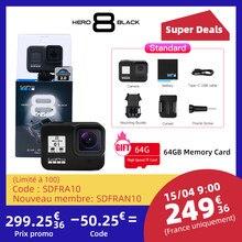 Original GoPro HERO 8 Schwarz Action Kamera Go Pro Wasserdichte Sport Action Kamera 4K Ultra HD Video 1080p tragbare Live-Streaming