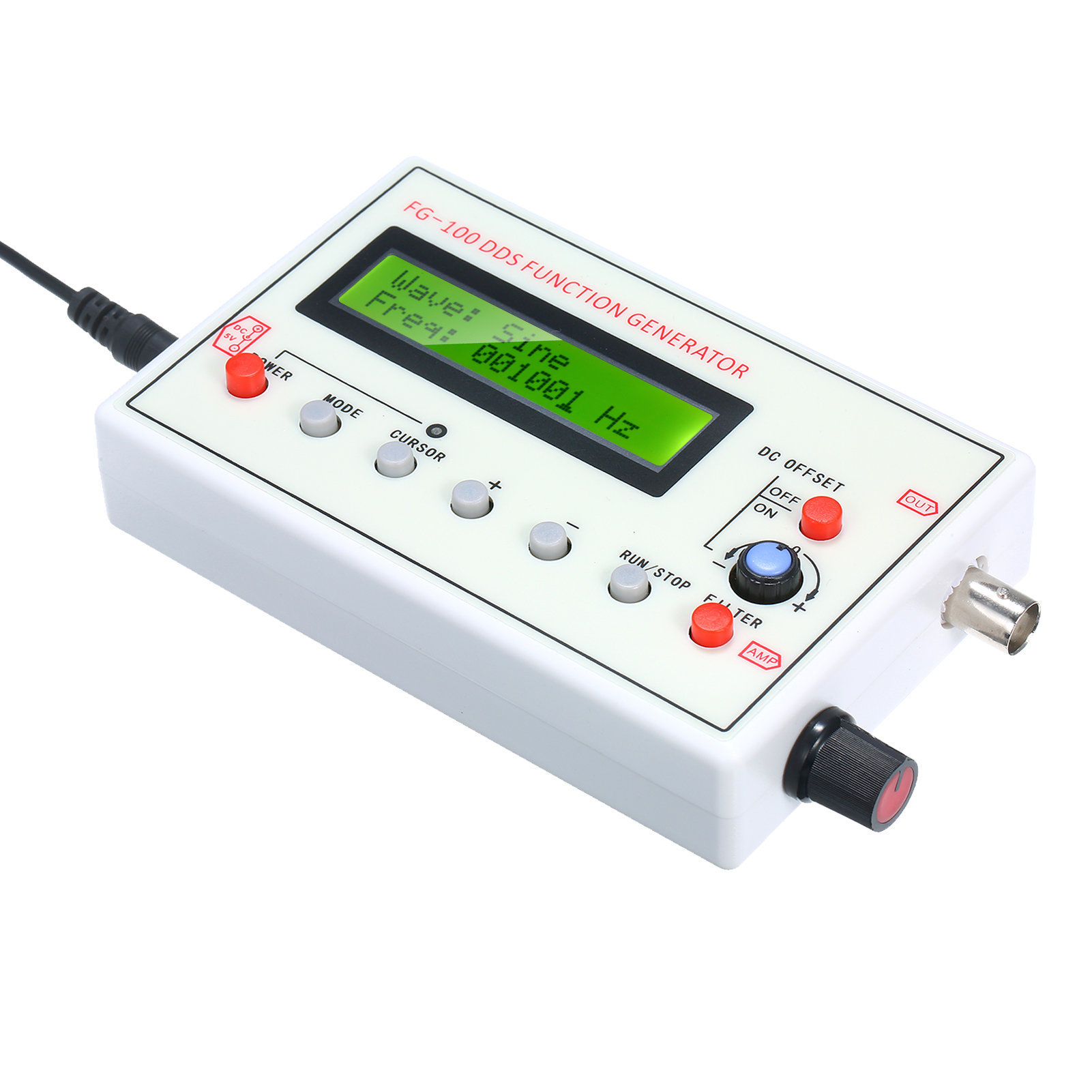 1HZ-500 кГц FG-100 DDS генератор сигналов синусоидальной ЭКГ Шум Выход частотомер источника сигнала модуль счетчик частоты