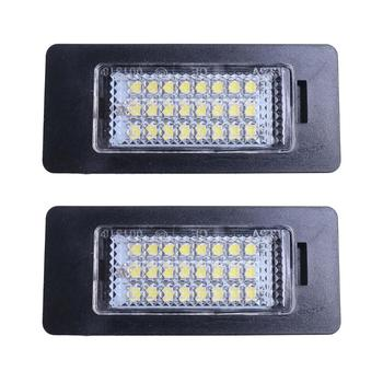 LED car License Plate Light Fit For BMW E90 M3 E92 E70 E39 F30 E60 E61 E93 car hide auto license plate holder number plate light image