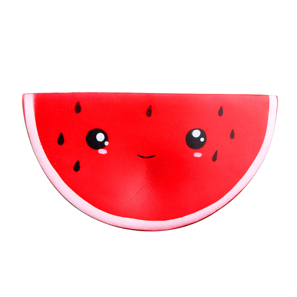 New Style Smiley Watermelon Squeeze Soft Elastic Toy Antistress Gadgets Stress Relief Toy Fruit Slow Rising Toy #A