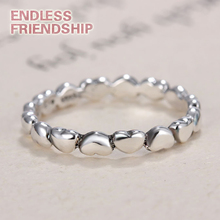 Fashion Linked Love Silver Color Brand Ring Compatible Jewelry DIY Gift For Best Friend Dropshipping ring linked belt with bag