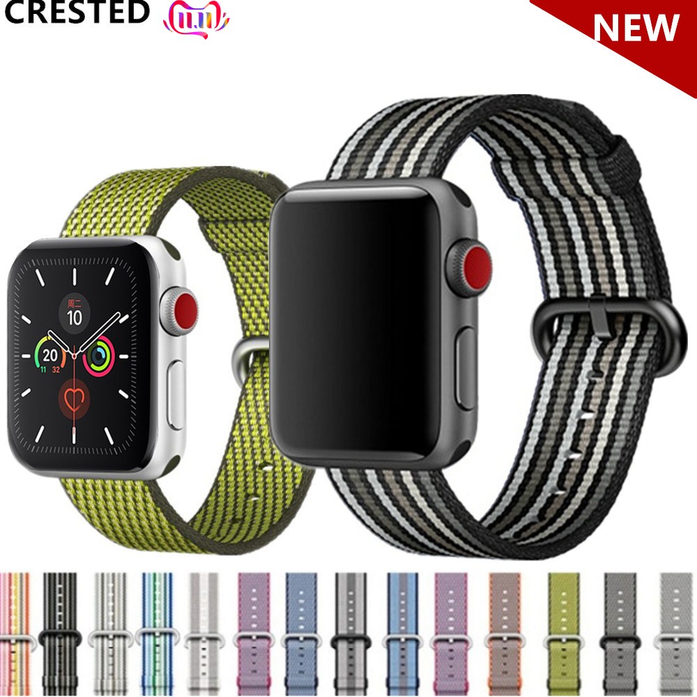 Nato Strap For Apple Watch Band Apple Watch 5 4 3 Band 44mm 40mm Iwatch Band 42mm 38mm Pulseira Correa Woven Nylon Bracelet Belt