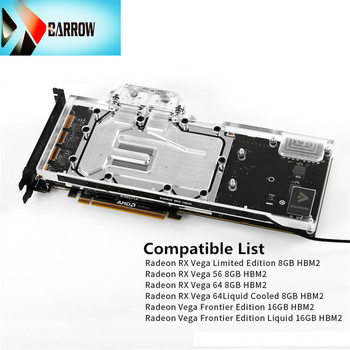 BS-AMRVEGA-PA Barrow GPU water cooler for Radeon Vega Frontier Edition 16G for Radeon RX Vega 64 Limited Edition 8GB GPU cooler фото