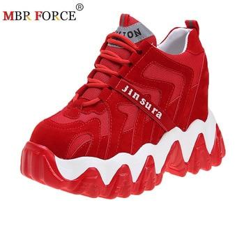 ¡Novedad! ¡moda 2020! Zapatillas gruesas para Mujer de MBR FORCE, zapatillas con plataforma, cuñas informales para Mujer, zapatos de cuero para papá