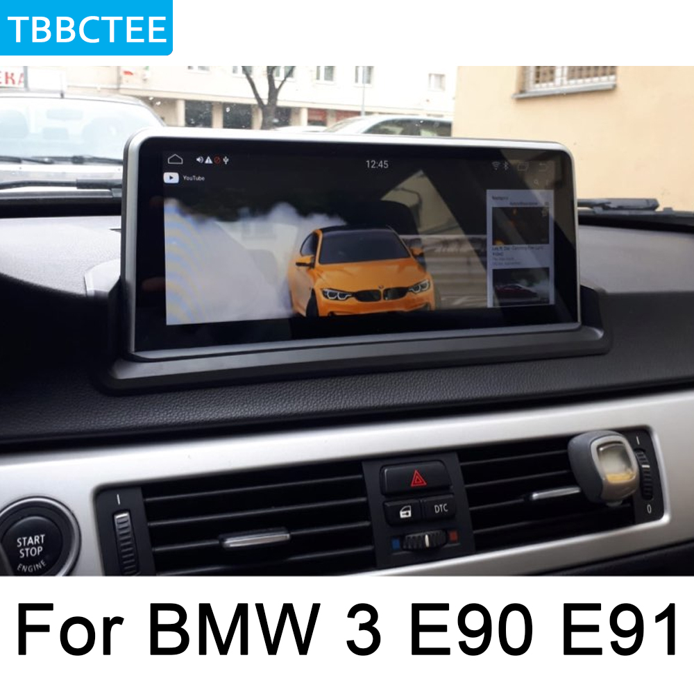 Car Audio <font><b>Android</b></font> GPS Navigation WiFi 3G 4G For <font><b>BMW</b></font> 3 Series <font><b>E90</b></font> E91 2005~2012 Idrive Multimedia player Bluetooth HD BT image