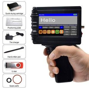 Image 4 - Smart Portable Handheld Inkjet Drucker Schnell trocknend 600DPI Label Druck Maschine, touchscreen für Datum LOGO Barcode QR Code Drucken
