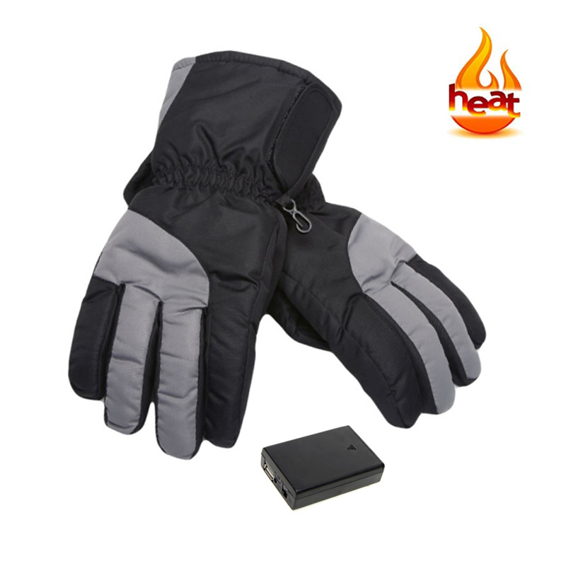 Ski Gloves Winter Usb Electric Hot Finger Gloves 5th Battery Heating Outdoor Ski Gloves Thick Heating Gloves Can Be Washed 88