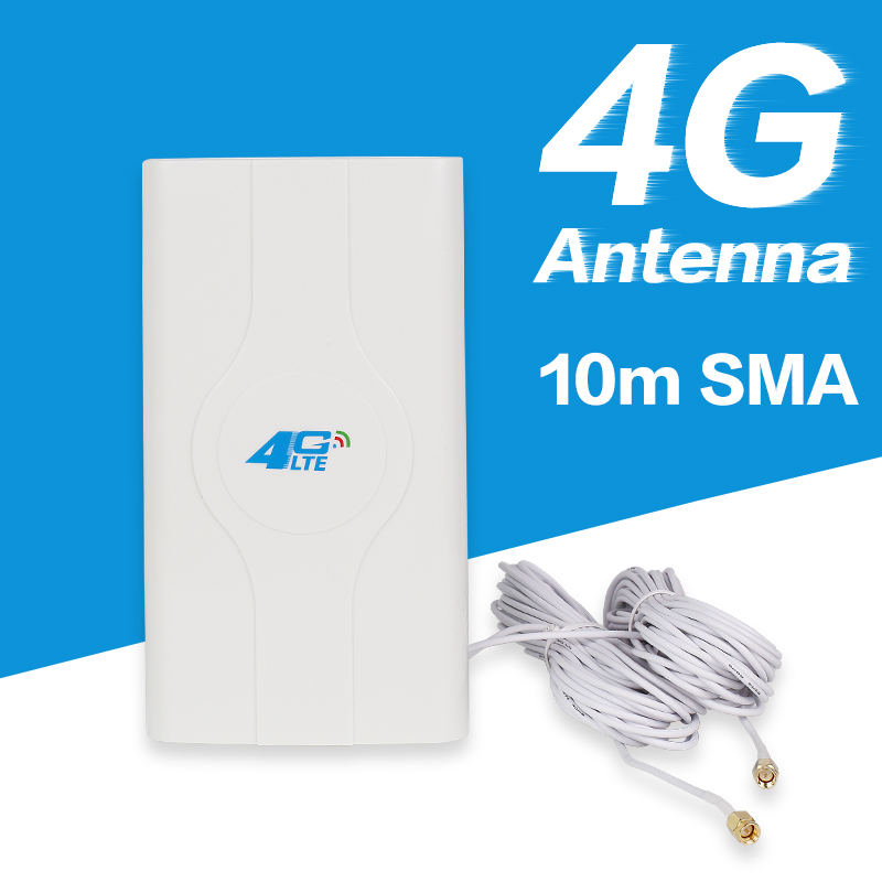 88dBi 4g LTE Antenna For 3g 4g Router CPE Router LTE Antenna With 10m Cable SMA Connector
