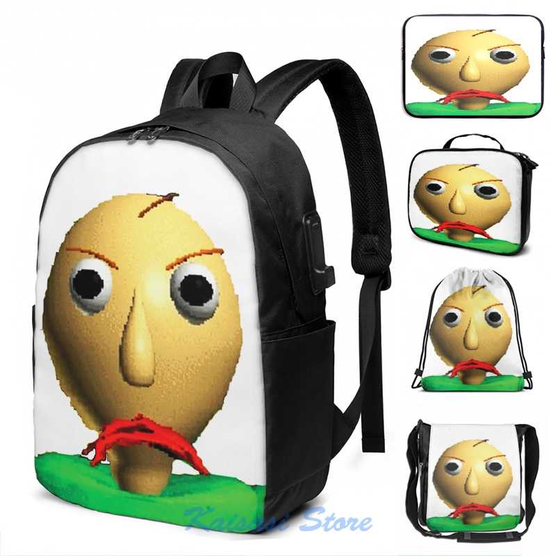 Baldis Basics In Education And Learning Usb Charge Backpack Men