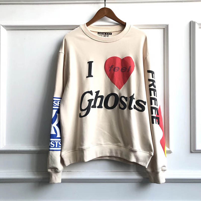 Kanye West KIDS SEE GHOSTS Sweatshirt 3D Dye Men Women 1:1 High Quality Kanye Pullover Sweatshirts 19FW