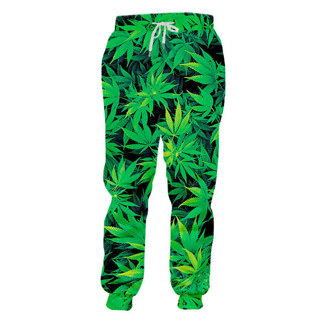 Fashion Weeds Pants Unisex 3D Smoking Leaf Print Casual Loose Trousers Streetwear Hip Hop Active Sports Joggers Sweatpants S-4XL 1