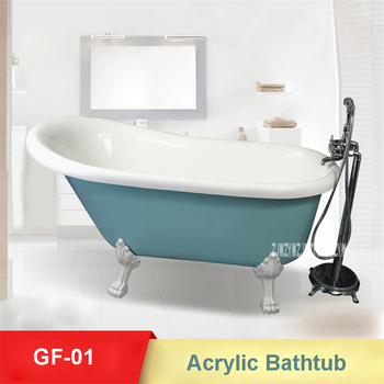 GF-01 europeu-estilo banheira de alta qualidade acrílico autônomo banheira dupla isolamento casa de banho portátil banheira