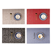 2pcs 4pcs 6pcs 8pcs PVC noble Flower Pattern Placemats for Dining Table Runner Linens place mat in Kitchen Accessories Cup Wine